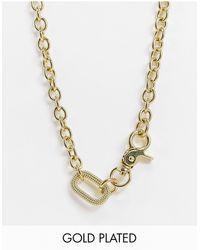 Luv Aj Isla - Collana appariscente con catena oversize placcata oro - Metallizzato