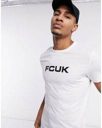 French Connection Fcuk Logo T-shirt - White
