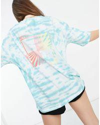 Billabong True Boy Pipe - T-shirt oversize tie-dye - Blu