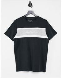 Jack & Jones - T-shirt à logo color block - Lyst