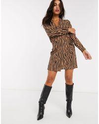 Vila Zebra Print Wrap Skirt-multi - Multicolor
