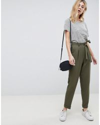 ASOS - Design Woven Peg Pants With Obi Tie - Lyst