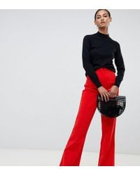 ASOS - Asos Design Tall Slim Kickflare Trousers In Cord - Lyst