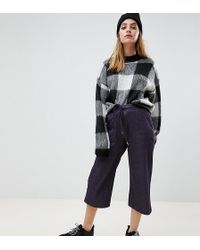 Noisy May Petite - Denim Affect Jersey Culottes - Lyst