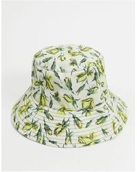 & Other Stories Bucket Hat Met Rozenprint - Wit