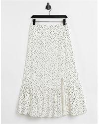 Warehouse Stevie Ditsy Floral Midi Skirt - Multicolour