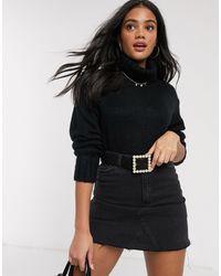 Brave Soul Roll Neck Sweater - Black