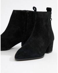 ba9d53a96a2 Clover Black Suede Ankle Boot