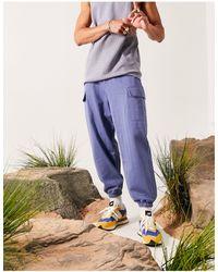 ASOS Pantaloni affusolati oversize blu
