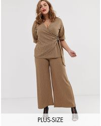 Simply Be Culottes Co-ord - Brown