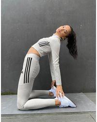 adidas Originals Серые Леггинсы С Тремя Полосками Adidas Training-серый