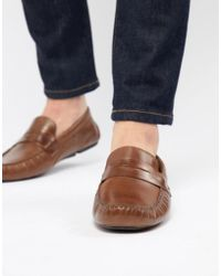Red Tape Driving Shoes In Tan - Brown