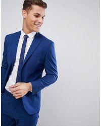 Mango - Man Slim Fit Suit Jacket In Navy - Lyst