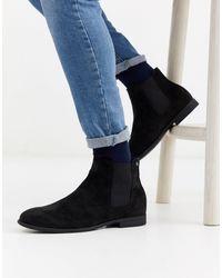 Jack & Jones Chelsea Boots Van Imitatiesuède - Zwart