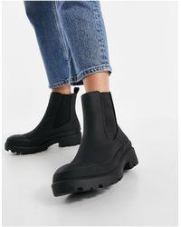 Pull&Bear Pull On Chelsea Boot - Black