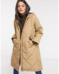 SELECTED Femme Oversized Quilted Jacket - Natural