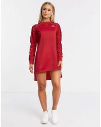 Kappa Vestido estilo camiseta con banda en rojo