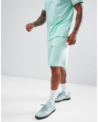 adidas Originals - 3-stripe Jersey Shorts In Green Dh5797 - Lyst