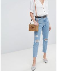 New Look - Ripped Mom Jeans - Lyst