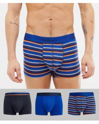 Pepe Jeans Short Trunk 3 Pack - Blue
