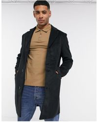 Another Influence Wool Blend Over Coat - Black