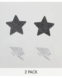 ASOS - Design 2 Pack Glitter Lightning Bolt & Star Nipple Stickers - Lyst