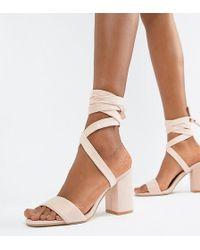 524e7eeb443 Park Lane - Tie Leg Block Heeled Sandals - Lyst