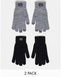 Jack & Jones 2 Pack Knitted Gloves - Multicolour