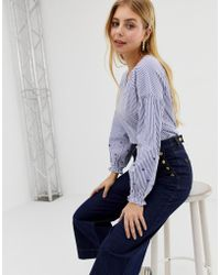 ONLY Sommy Stripe Blouse - Blue