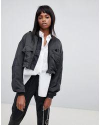 G-Star RAW Cropped High Shine Jacket - Black
