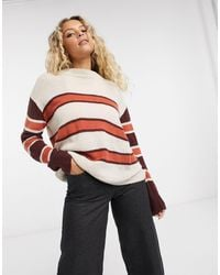 Native Youth Striped Jumper - Red