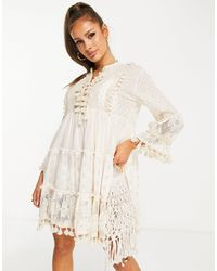South Beach Пляжное Платье С Кисточками -белый