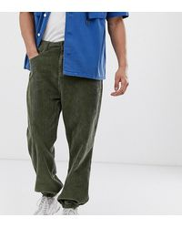 Collusion Cuffed Cord Pants - Green