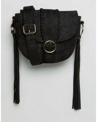 Missguided - Buckle Fastening Shoulder Bag - Black - Lyst