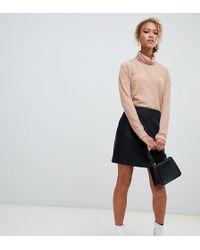 New Look Mini Skirt In Pu - Black