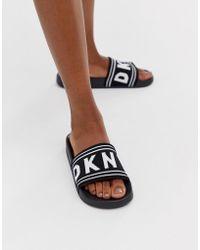 DKNY Logo Slider - Black