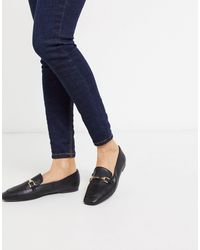 London Rebel Metal Trim Loafer - Black
