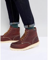 Eastland - Lumber Up Leather Boots In Oxblood - Lyst
