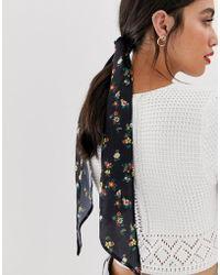 ASOS - Dark Floral Headscarf - Lyst