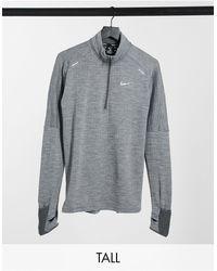 Nike Tall - Essentials Element Sphere 3.0 - Top Met Korte Rits - Grijs