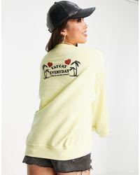 New Girl Order Vaycay Everyday Sweatshirt - Yellow