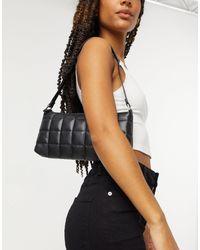 Monki Dundee Padded Shoulder Bag - Black