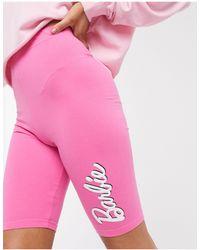 ASOS – Mix & Match – Barbie – Kurze Pyjama-Leggings - Pink