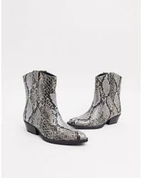 Bershka Cowboy Ankle Boot - Multicolour