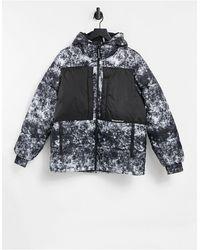 Bershka Padded Printed Puffer Jacket - Multicolor