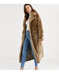 Asos manteau bleu femme
