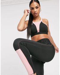 PUMA Черно-розовый Спортивный Бюстгальтер Training Studio-черный