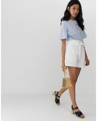 ASOS - Broderie Short With Belt - Lyst