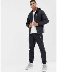 Nike Woven Tracksuit Set In Black 928119-010