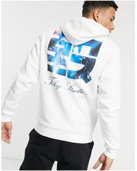River Island Hoodie With Print - White